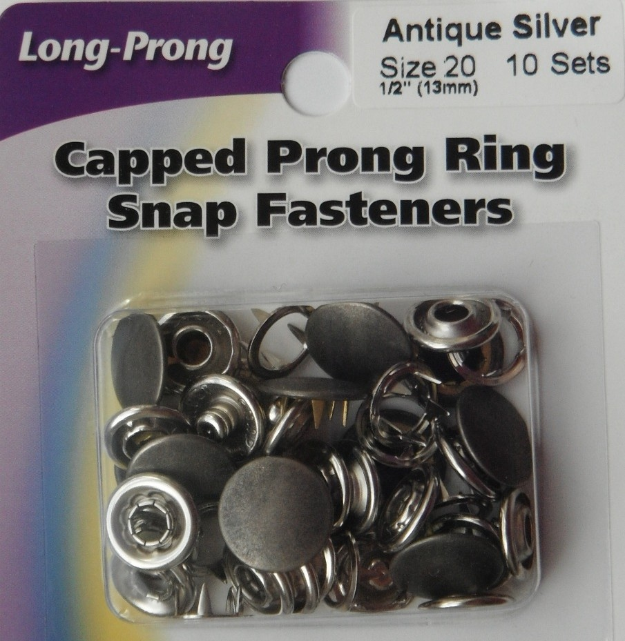 13mm snap fasteners. 10 Sets Antique Silver