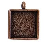 15mm Copper Plated Patera Single Loop Square Bezel